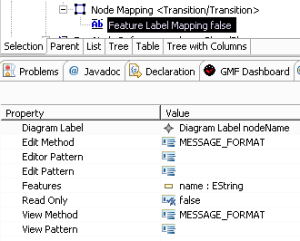 Feature Label Mapping definition of an external label